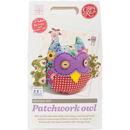 The Crafty Kit Co. Sewing Kit - Patchwork Owl