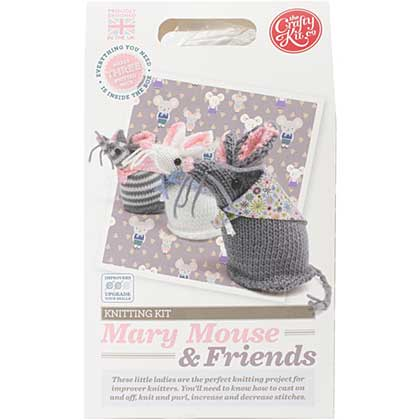 The Crafty Kit Co. Knitting Kit - Mary Mouse and Friends