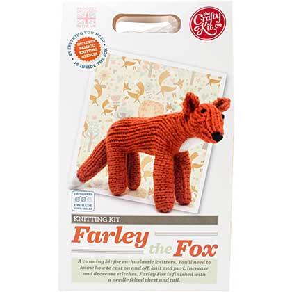 The Crafty Kit Co. Knitting Kit - Farley Fox