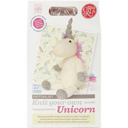 The Crafty Kit Co. Knitting Kit - Unicorn