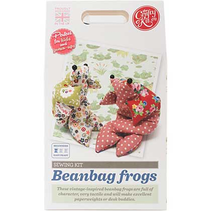 The Crafty Kit Co. Sewing Kit - Beanbag Frog