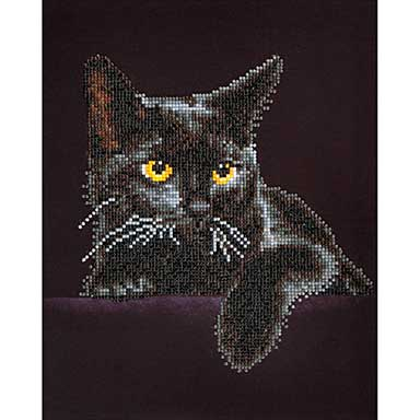 SO: Diamond Dotz - Midnight Cat Embroidery Facet Art Kit