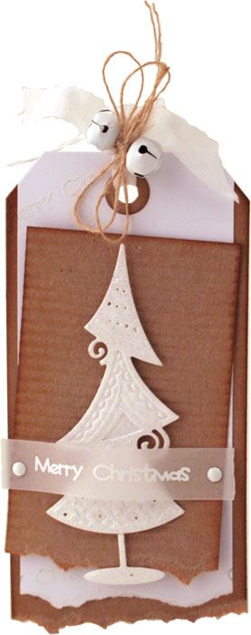 Christmas tag by Louise Roache