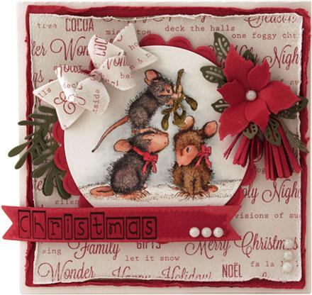 Mistletoe Mice by Fleur Pearson