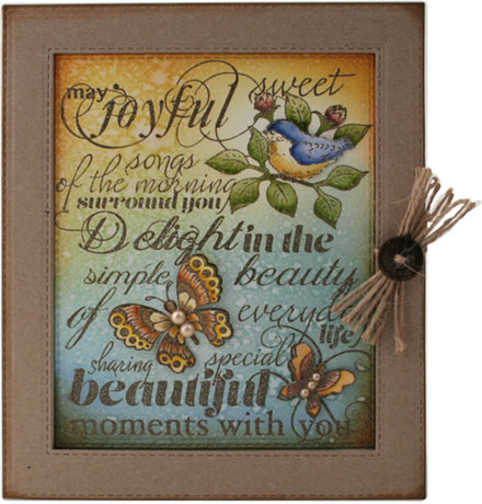 Birds and butterflies by Louise Roache
